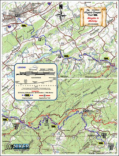 Exclusive! Detailed maps of the Virginia Creeper Trail
